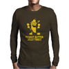 Peanut Butter Jelly Time Banana Mens Long Sleeve T-Shirt
