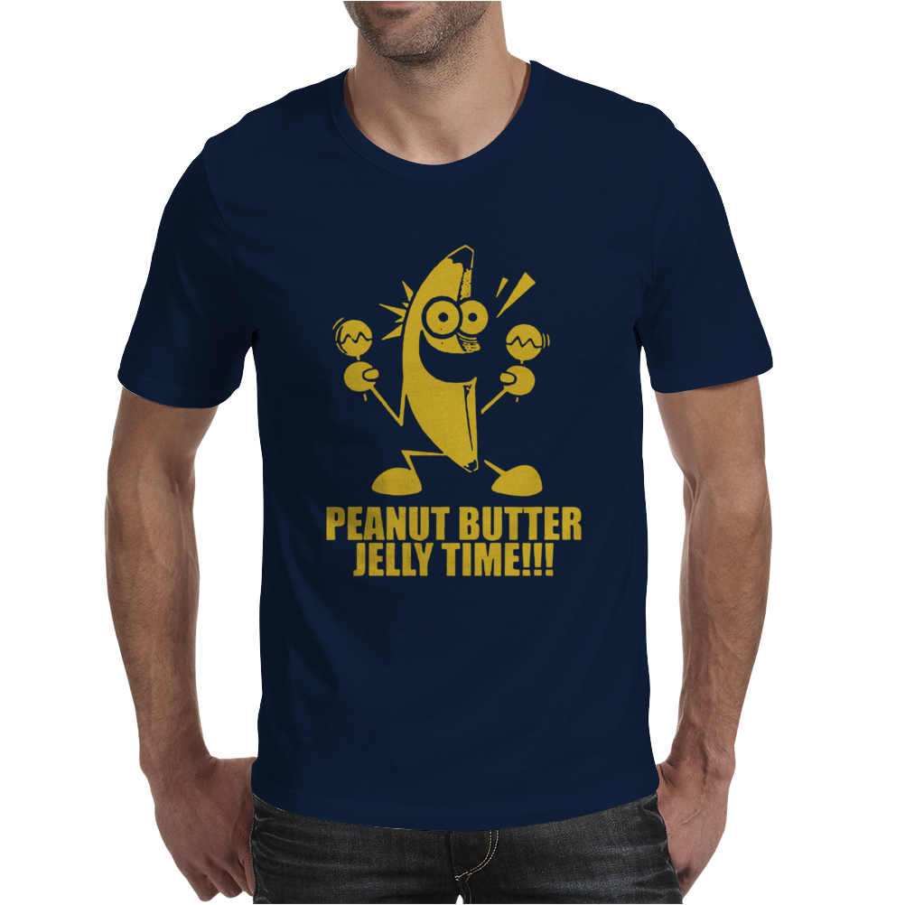 Peanut Butter Jelly Time Banana Mens T-Shirt