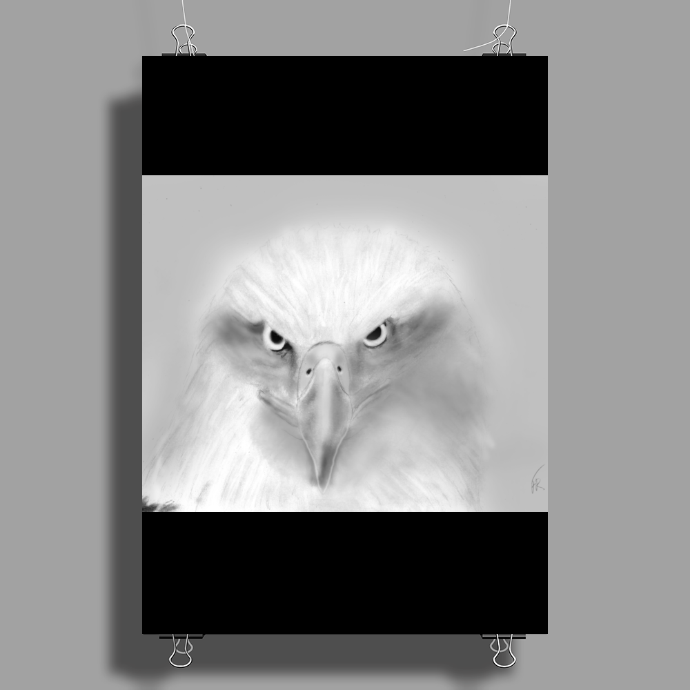 Pencil eagle Poster Print (Portrait)