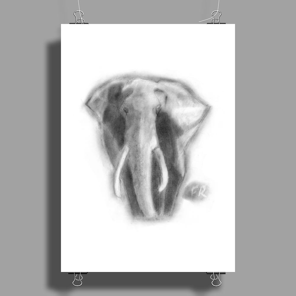 Pencil elephant Poster Print (Portrait)