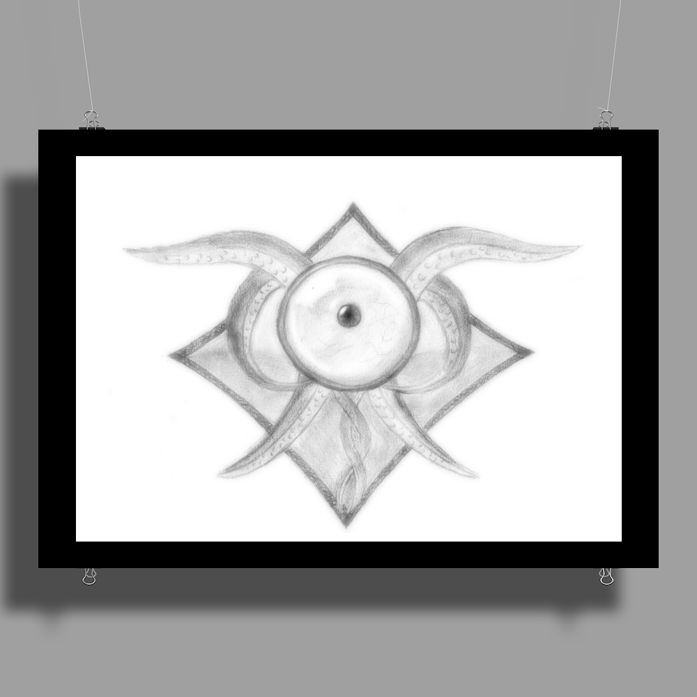 Pencil eye Poster Print (Landscape)