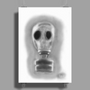 Pencil gas mask Poster Print (Portrait)