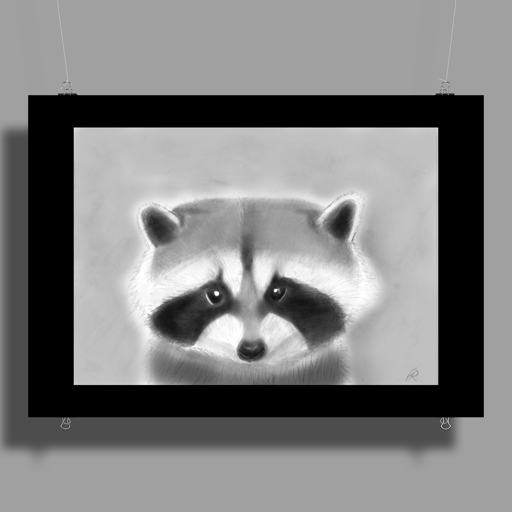 Pencil raccoon Poster Print (Landscape)