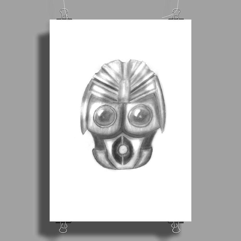 Pencil robot Poster Print (Portrait)