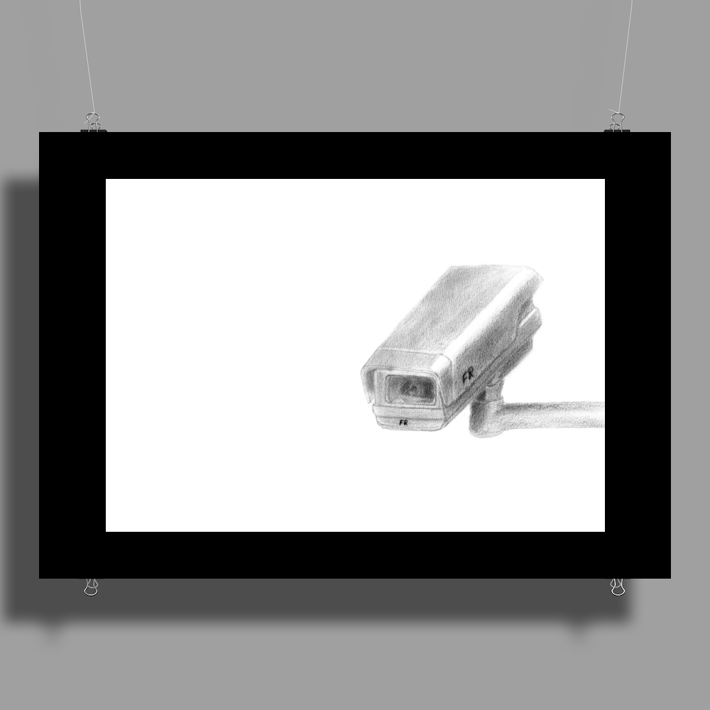 Pencil security camera Poster Print (Landscape)