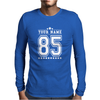 Personalised American Football Baseball Jersey Top Varsity Mens Long Sleeve T-Shirt