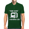 PERSONALISED your name CARAVAN CLUB FUNNY GIFT Mens Polo