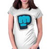 PewDiePie the blue brofist Womens Fitted T-Shirt