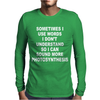 Photosynthesis Funny Mens Long Sleeve T-Shirt