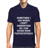 Photosynthesis Funny Mens Polo