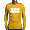 Piano Mens Long Sleeve T-Shirt