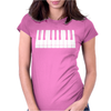 Piano Womens Fitted T-Shirt