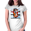 PICASSO BY NORA  CAT SITTING Womens Fitted T-Shirt