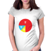 Pie Chart Funny Womens Fitted T-Shirt