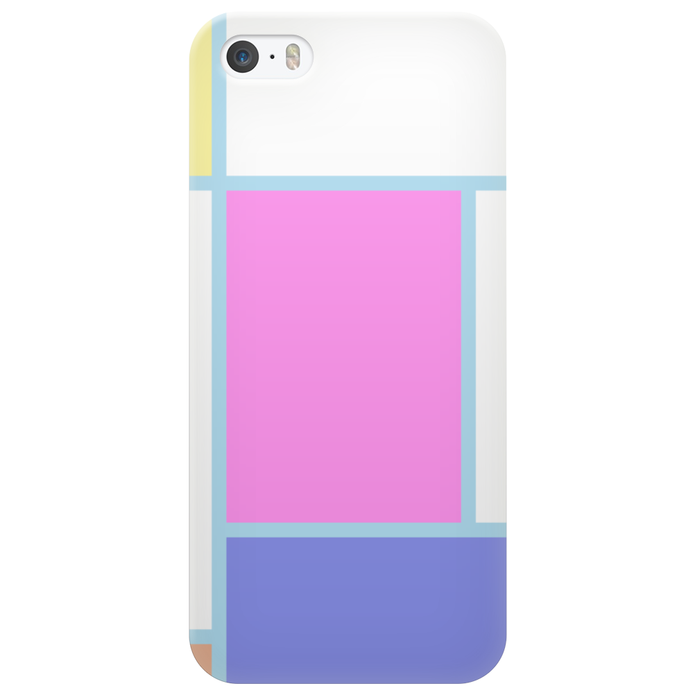 Piet Mondrian in pastel. Phone Case