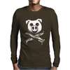Pig Bacon Cross Bones Pirate Mens Long Sleeve T-Shirt