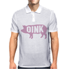 Pig Oink Funny Mens Polo