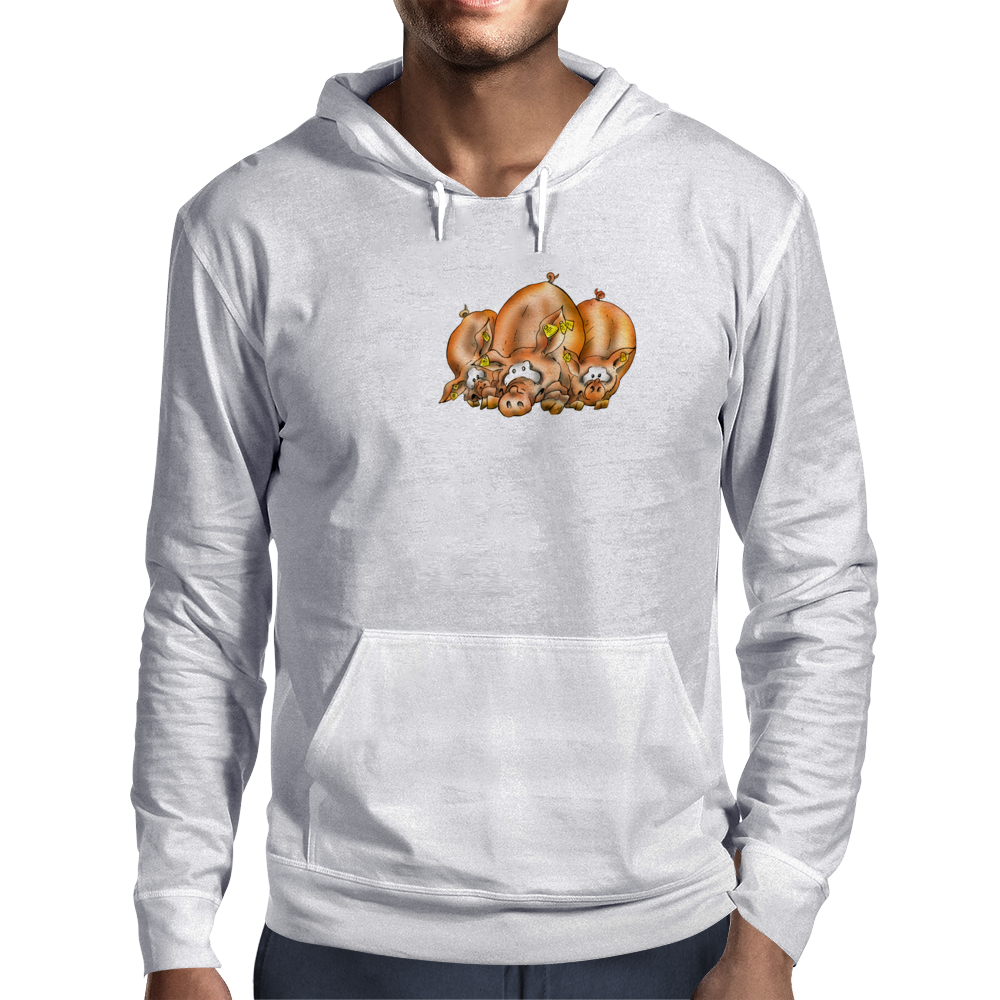 Pig, Pig and another Pig Mens Hoodie