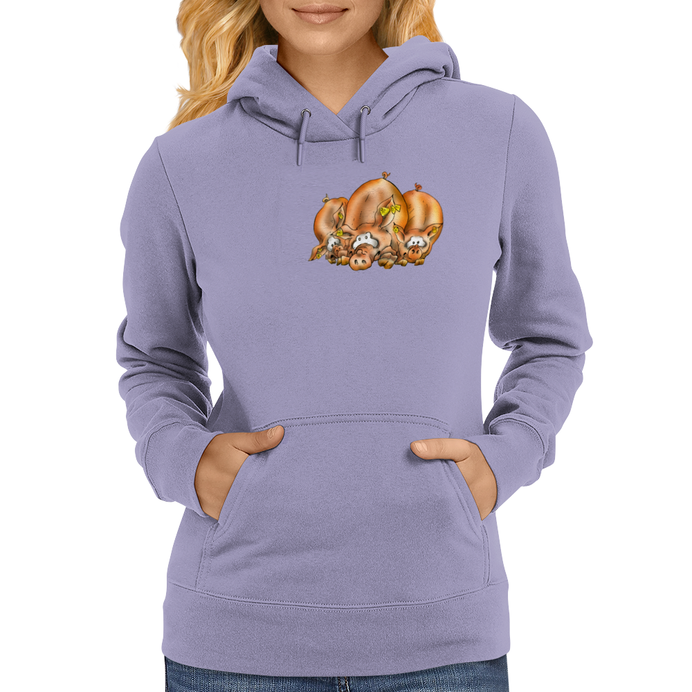 Pig, Pig and another Pig Womens Hoodie