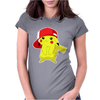 Pikachu Cute Pokemon Womens Fitted T-Shirt