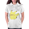 Pikachu Moustache Womens Polo