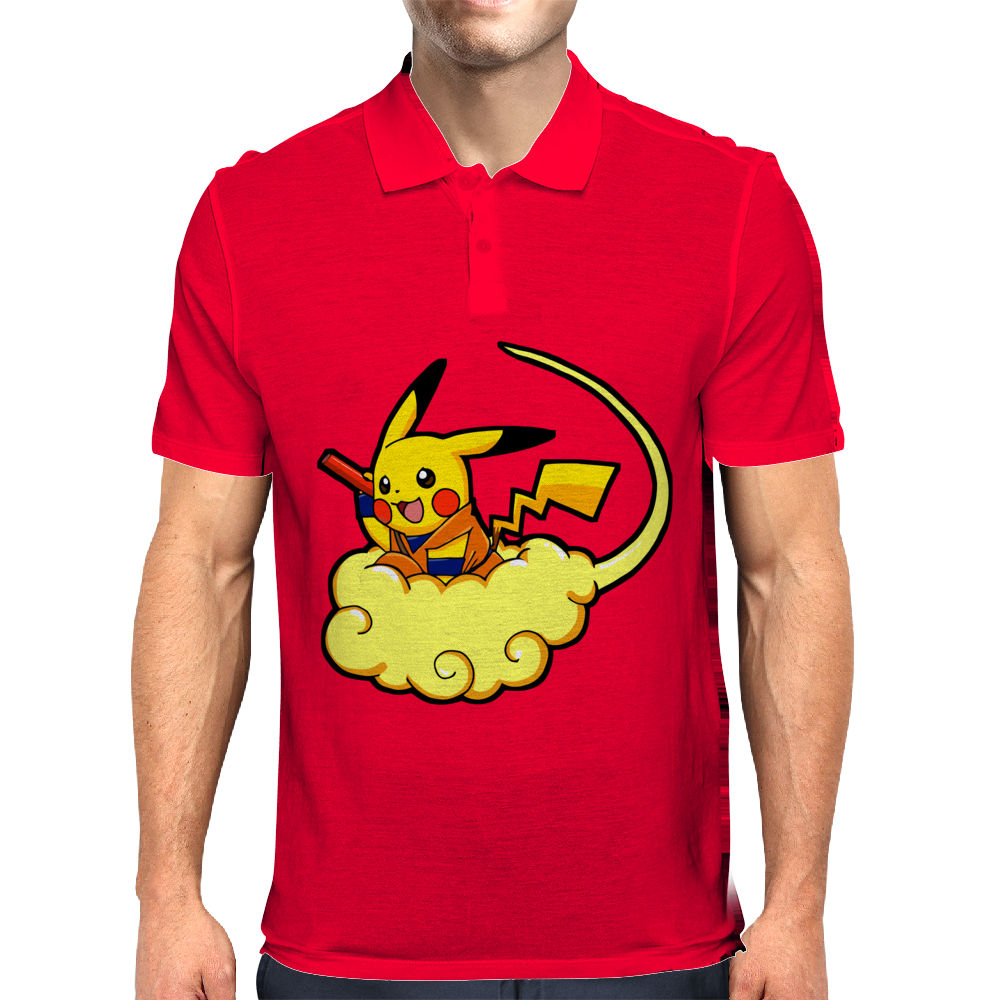 Pikagoku parody dragon ball z - pokemon Mens Polo