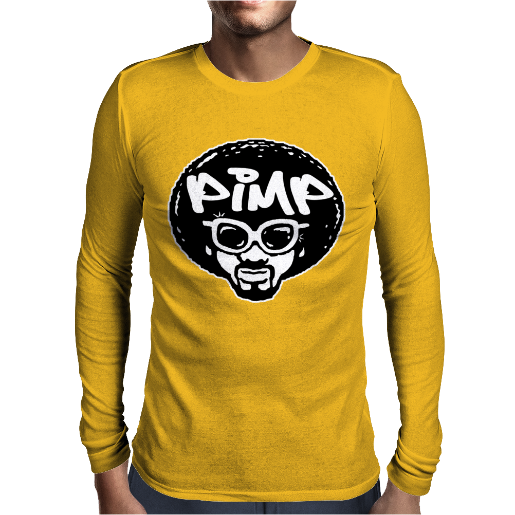 PIMP Funny Humor Mens Long Sleeve T-Shirt