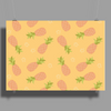 Pineapple pattern Poster Print (Landscape)