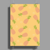 Pineapple pattern Poster Print (Portrait)