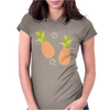 Pineapple pattern Womens Fitted T-Shirt
