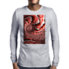 Pink Conch Shell Fractal Mens Long Sleeve T-Shirt
