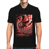 Pink Conch Shell Fractal Mens Polo