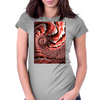 Pink Conch Shell Fractal Womens Fitted T-Shirt