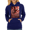 Pink Conch Shell Fractal Womens Hoodie