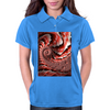 Pink Conch Shell Fractal Womens Polo