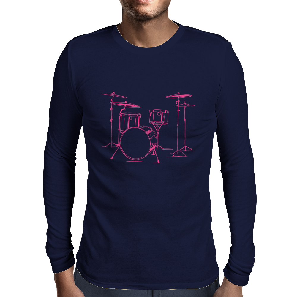 Pink drums Mens Long Sleeve T-Shirt