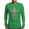 Pink Fleur De Lis Mens Long Sleeve T-Shirt