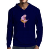 Pink haired girl Mens Hoodie