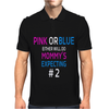 Pink or blue Mommy is expecting number 2 new Mens Polo
