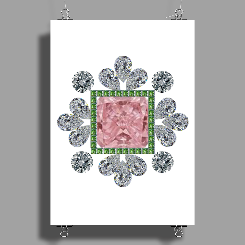 Pink Princess Diamond Poster Print (Portrait)