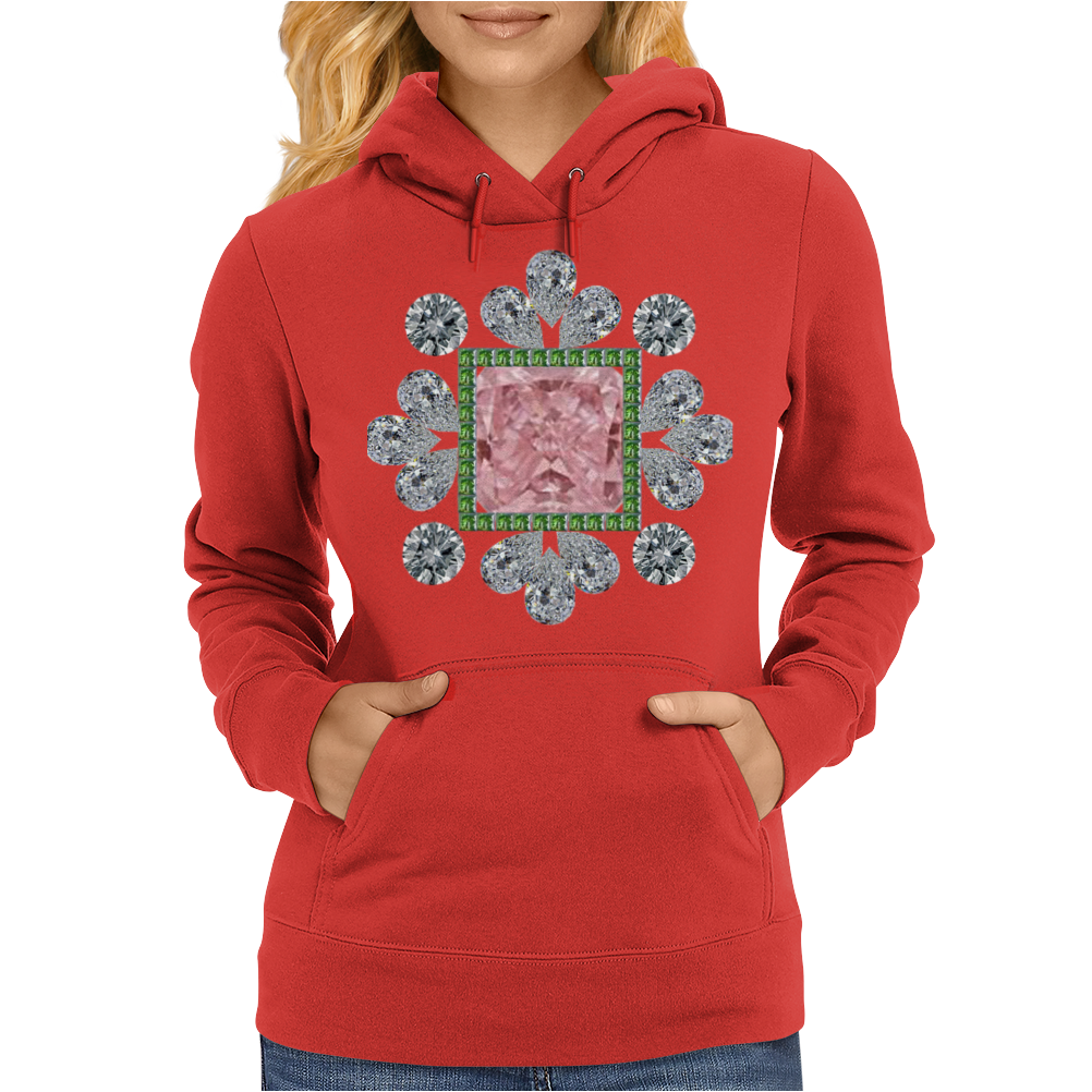 Pink Princess Diamond Womens Hoodie