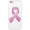 Pink Ribbon Words Phone Case