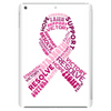 Pink Ribbon Words Tablet