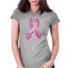 Pink Ribbon Words Womens Fitted T-Shirt