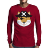 Pirate Doge Shiba Inu Mens Long Sleeve T-Shirt