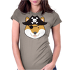 Pirate Doge Shiba Inu Womens Fitted T-Shirt