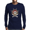 Pirate skull Mens Long Sleeve T-Shirt
