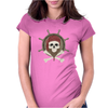 Pirate skull Womens Fitted T-Shirt