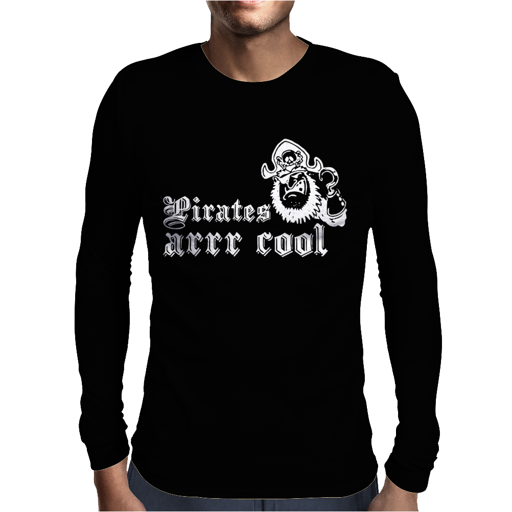 Pirates Arrr Cool Mens Long Sleeve T-Shirt