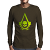 Pirates skull Mens Long Sleeve T-Shirt